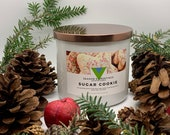 Sugar Cookie - 18oz 3 Wick Scented Soy Candle Winter Holiday Fragrance