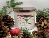 Holiday Magic - 18oz 3 Wick Scented Soy Candle Winter Holiday Fragrance