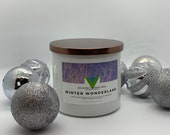 Winter Wonderland - 18oz 3 Wick Scented Soy Candle Winter Holiday Fragrance
