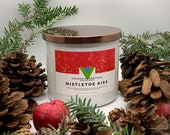 Mistletoe Kiss - 18oz 3 Wick Scented Soy Candle Winter Holiday Fragrance