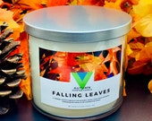 Falling Leaves - 18oz 3 Wick Scented Soy Candle Fall Autumn Fragrance