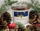 Cozy Fireplace - 18oz 3 Wick Scented Soy Candle Winter Holiday Fragrance