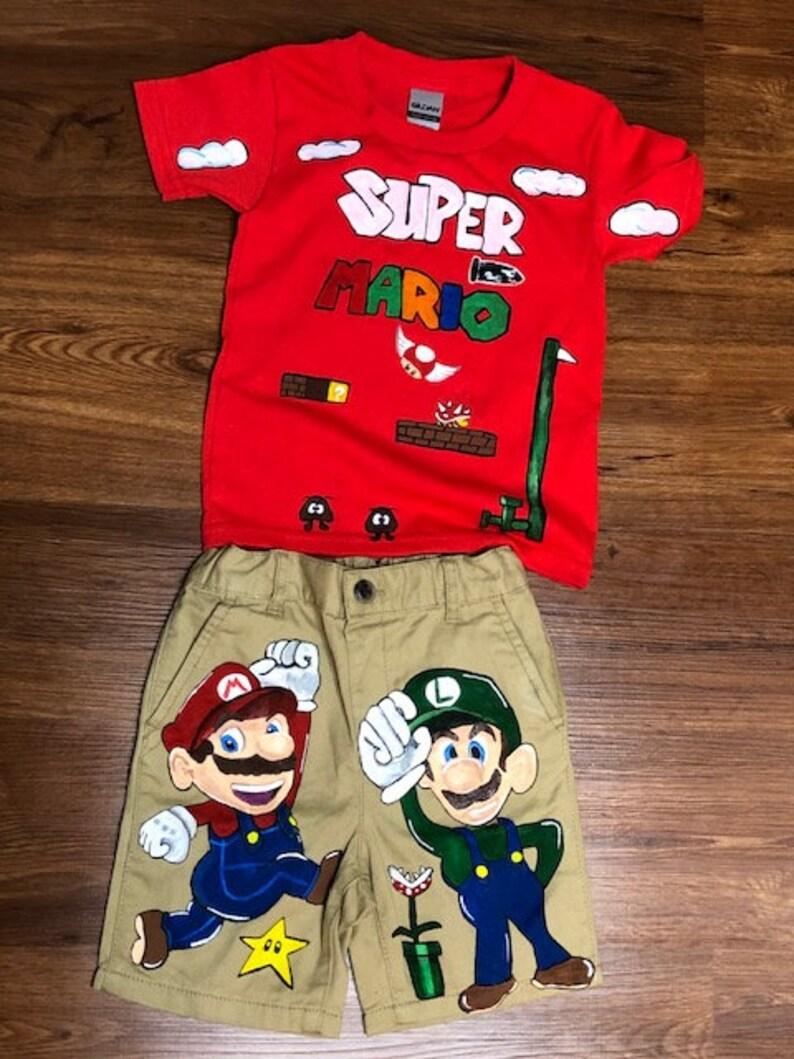 Super mario kids outfit Clothing Sets Clothing zpantofi.ro