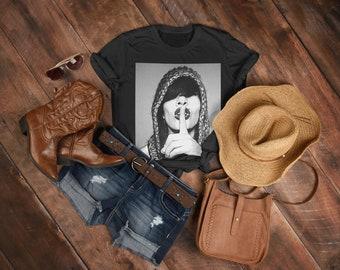 Shoegaze T-shirt | Dream Pop Tshirt | 90s Vibe Shirt | Punk Rock T-shirt | Graphic Tees | Finger on Lips | Alternative Fashion - The Shush