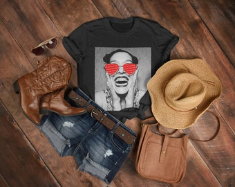 Skater Girl Style | Hipster Outfit | Retro Vintage T Shirt | CREWNECK | Self Love Tees | 90s Rock Band Shirt | Be My Valentine