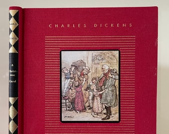A Christmas Carol by Charles Dickens - 1994 - Classic Book - Christmas Ghost Story - Children's Classics - Christmas Book Decor