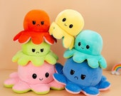 Big Octopus 50cm Plush Realistic Mood Jumbo Octopus Plush Mustache Reversible Toy 2021 TikTok Mood Plush Toy Adorable Easter Gift for Her