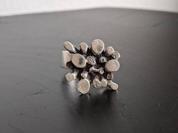 Sterling Silver Brutalist Ring