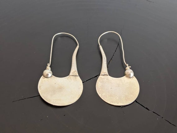 Vintage Modernist Sterling Silver Earrings