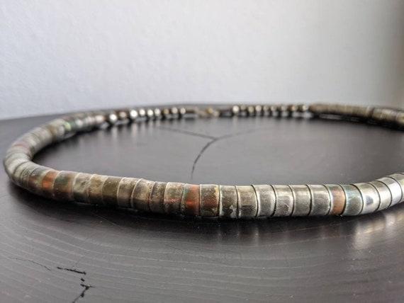 Vintage Silver Tribal Brutalist Stacked Beaded Sna