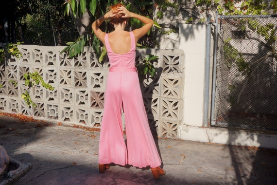 1970s Pink Jumpsuit by Manning Silver / 1970s Sil… - image 3