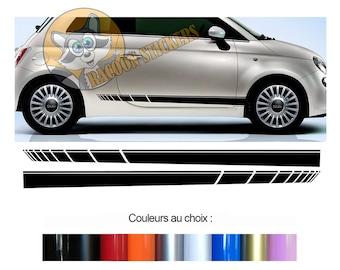 VOITURE Pages-Bandes Autocollants-Set décor convient pour FIAT 500-Abarth-Esseesse
