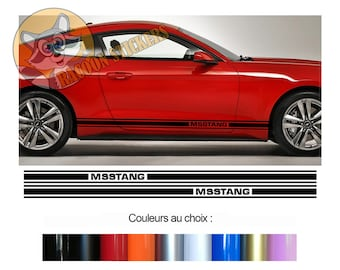 Outil mustang rouge autocollant