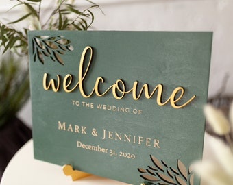Welcome Wedding Sign - Bridal Shower Welcome Sign - Welcome Sign Wedding Modern - Rustic Wedding Décor - Welcome Engagement Party Sign