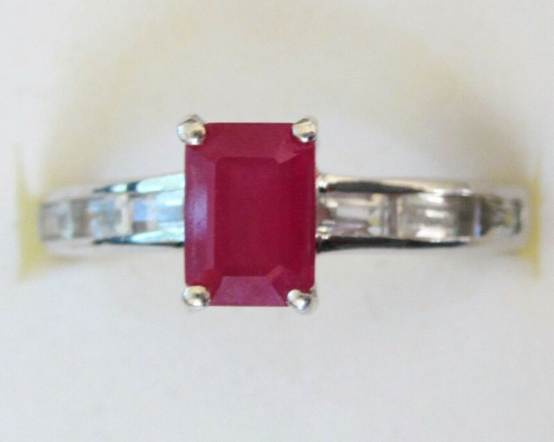 Certified  Ring Christmas Gift. 925 Sterling Silver Rectangle Shape Ring Gemstone Handmade Silver Ring 6.7 Crt Certified Ruby Ring
