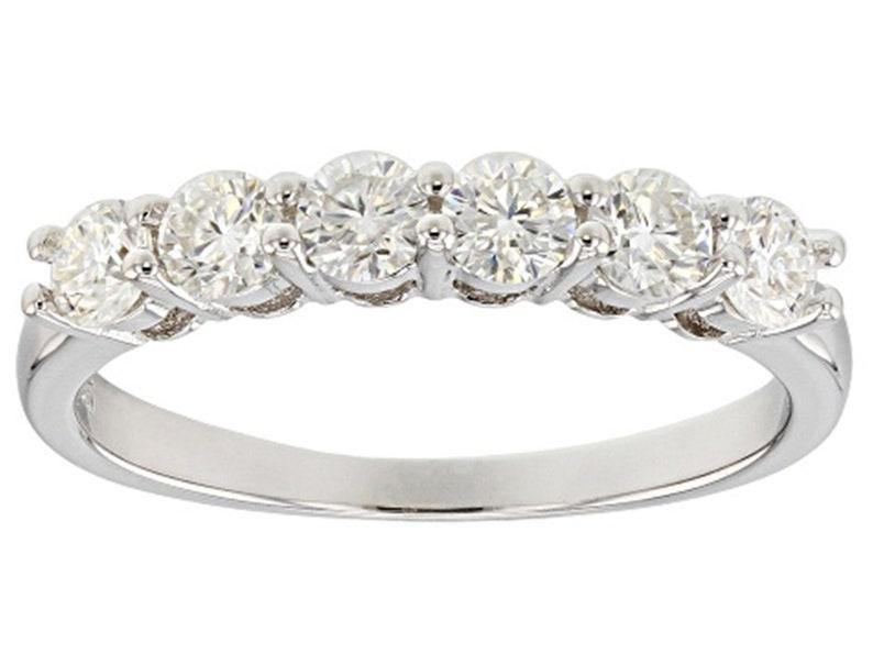 Christmas Gift. Handmade Ring For Men And Woman Natural Moissanite Diamond 6 Carat  Ring 925 Sterling Silver