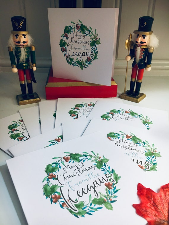 Christmas cards set of three A6 across Tannenwald