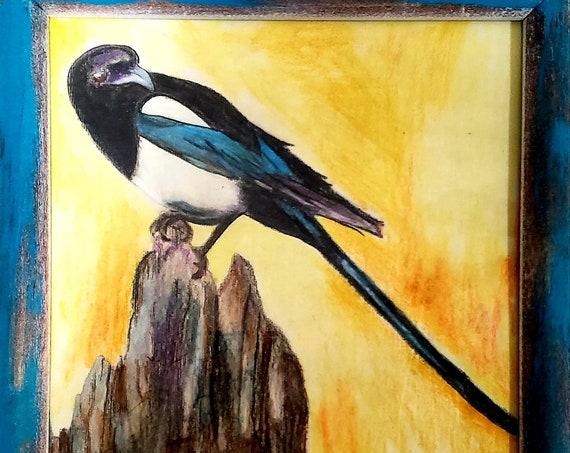 Framed Magpie
