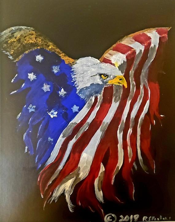 Patriotic Eagle - Print