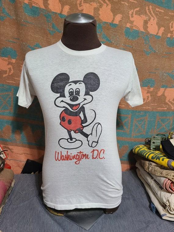 Vintage 80s Disney Mickey Mouse Cartoon Washington