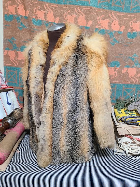Vintage Red Red Fox Fur Luxurious winter Overcoat