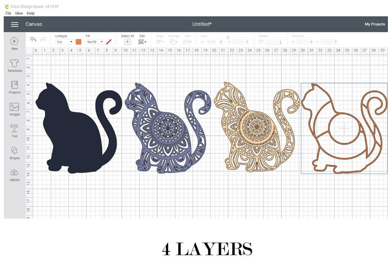 12+ Layered Cat Mandala Svg Free – SVG,PNG,DXF,EPS include