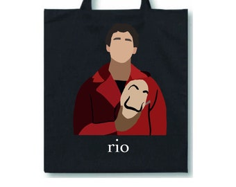 Money Heist Lisbon Themed Tote Bag Netflix La Casa De Papel Inspired Reusable Bag