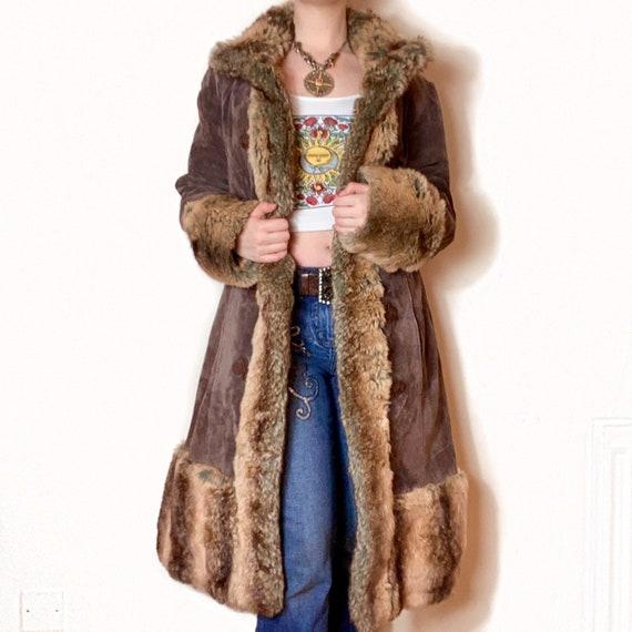 Stunning Vintage Brown PENNYLANE AFGHAN Coat