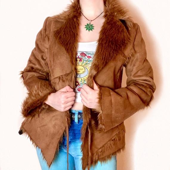 Vintage Faux Fur Brown PENNYLANE AFGHAN COAT