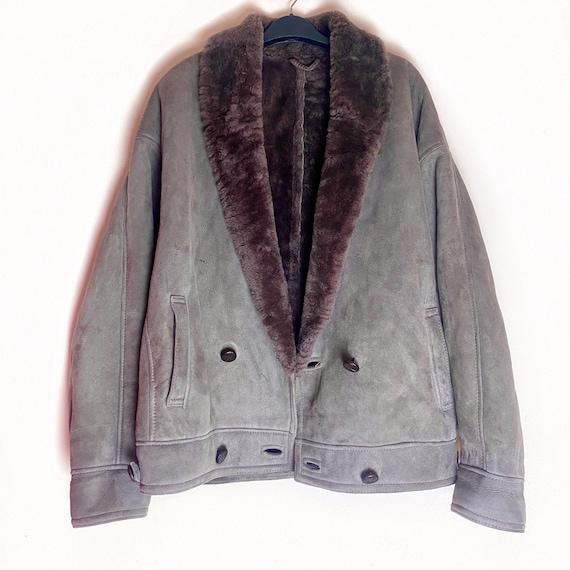 Men's Vintage Pennylane Style GREY AFGHAN COAT