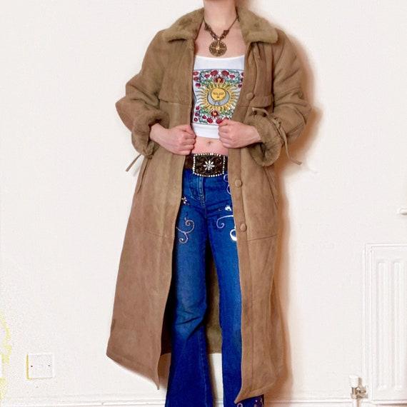 Vintage Brown/Beige PENNYLANE AFGHAN Coat