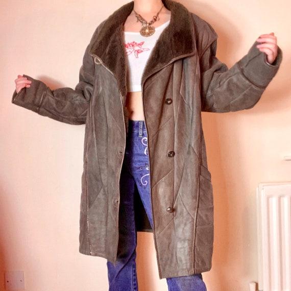 Vintage Fur PENNYLANE GREY AFGHAN Coat - image 3