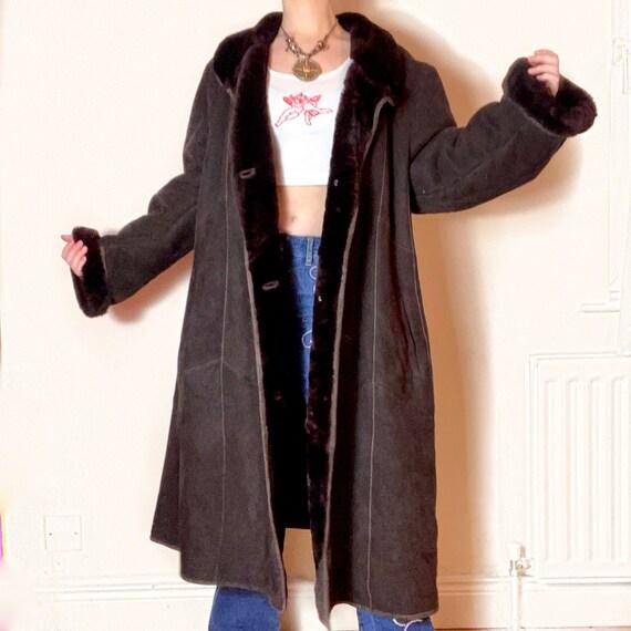 VINTAGE Fur PENNYLANE Dark Grey AFGHAN Coat