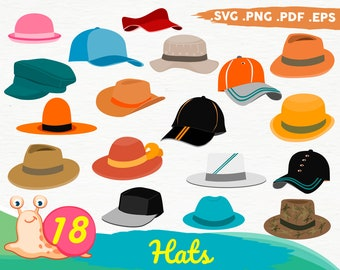 Pretty Watercolor Hats Clipart Hat Graphics Sailor Safari Hat Easter 4th of July Cowboy Fun Hand Painted Watercolor Commercial PNG Images
