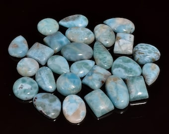Natural Larimar Cabochon 12x16 mm Oval Gemstone Cabochon Dominician Larimar Gemstone For Jewelry For One piece Christmas