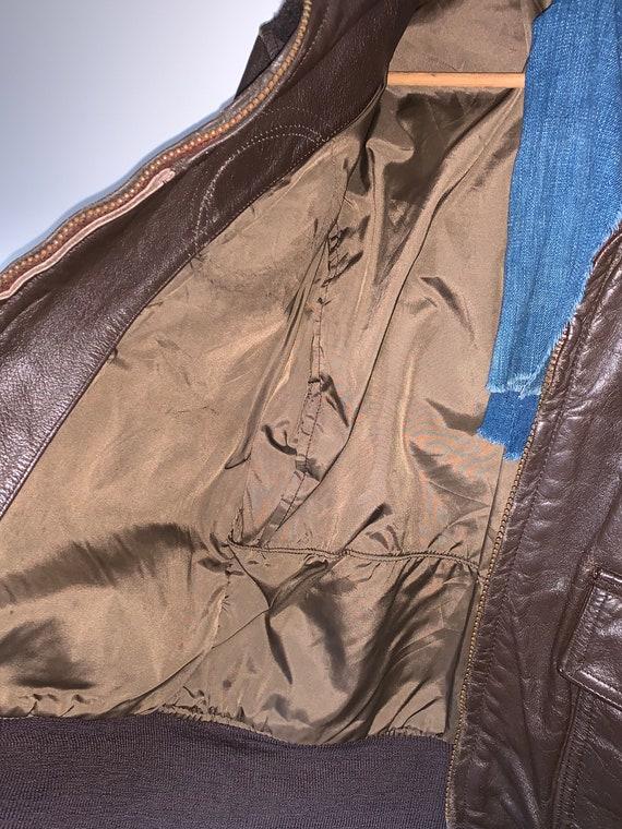 1970s Leather Flight Jacket - image 5