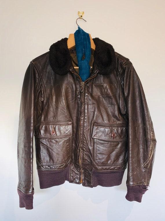 1970s Leather Flight Jacket