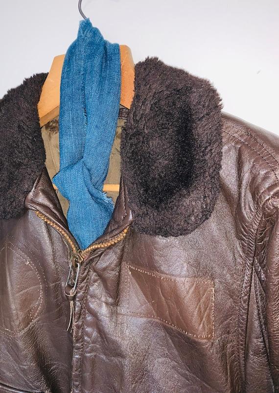 1970s Leather Flight Jacket - image 2