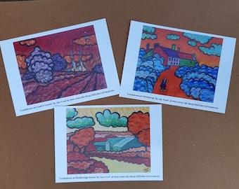 Rural Suffolk in Lockdown - Trio of Postcards - Pack 2