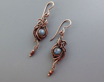 7 Year Anniversary Gift 20210089 Artisan Jewelry Turquoise Copper Jewelry Set Copper Earring Copper Jewelry Copper Necklace