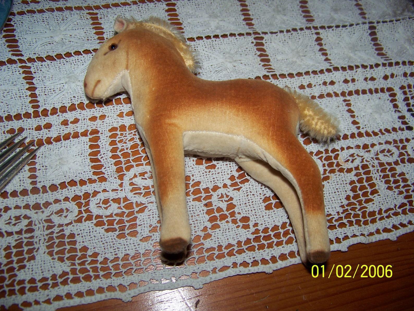 Steiff little horse velvet