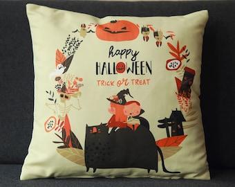 Fleece Ghost Halloween Pillow Cover