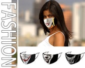 Unisex adult Halloween clown face mask. Horror movie mask. Penny wise mask. Washable and reusable. Balaclava bandana, skull protective mask