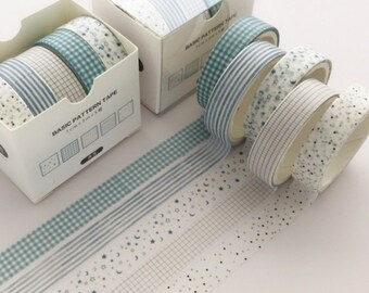 Bullet Journal Journal tape Scrapbook 8 Rolls Washi Tape Set Diary Tape Width 1cm 1.5cm   Length 3 Meters