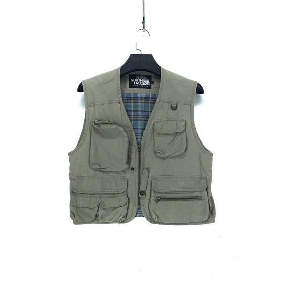 Vintage THE NORTH FACE Vest Multi Pocket Vest Fish