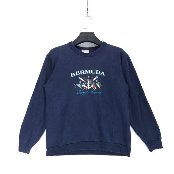RARE Vintage Royal Majesty BERMUDA Big Logo Pullov