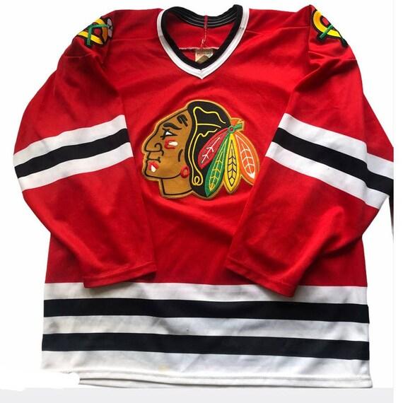 Chicago Blackhawks Throwback Vintage CCM Hockey Je