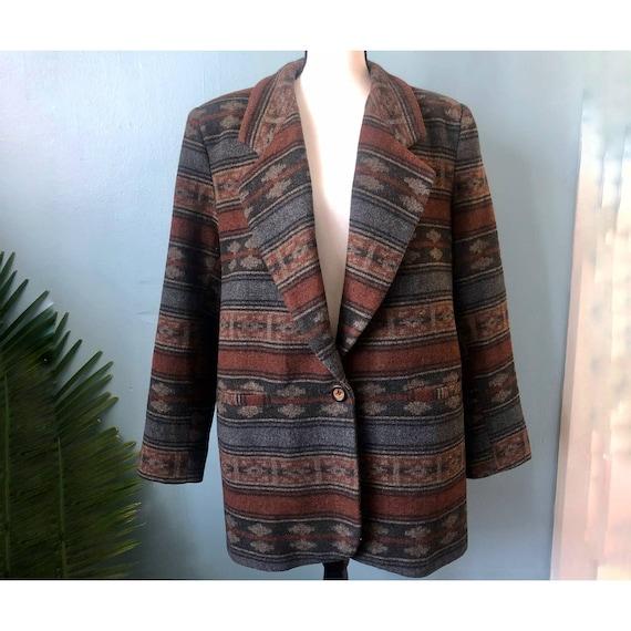 Braetan Wool Blazer Southwestern Chimayo Jacket C… - image 5