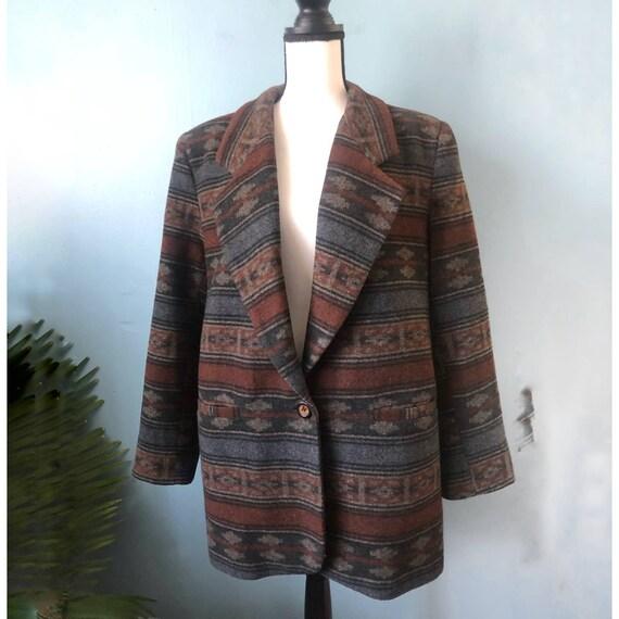Braetan Wool Blazer Southwestern Chimayo Jacket C… - image 2