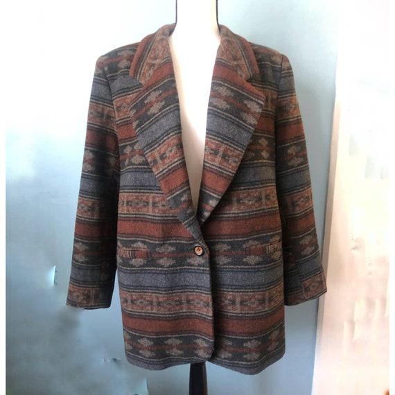 Braetan Wool Blazer Southwestern Chimayo Jacket C… - image 3
